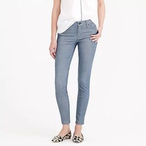 J Crew Blue White Tinted Railroad Toothpick Jeans